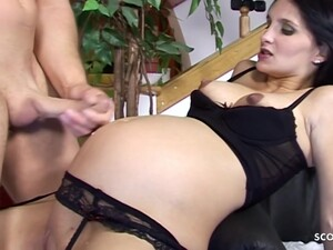 Seductive Brunette Is Pregnant, Horny And Desperately Needs A Good Fuck As Soon As Possible