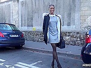 Sexy, Black Babe, Imani Is Wearing Stockings And High Heels While Getting Fucked From The Back