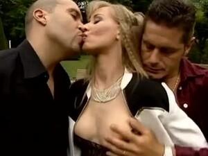 三人组,美女,屁股他妈的,闭合,双肛交