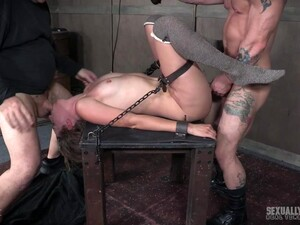 Hardcore Pussy And Face Fuck For Mona Wales While She Is Tied Up