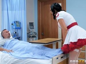 Nasty Nurse In A Miniskirt Jasmine Jae Rides Her Patient To Get Well