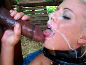 Lusty Blondie With Blue Eyes Gets Cum Shot On Her Face After Hard BJ