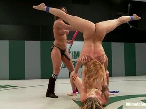 Two Naughty Blonde Girls Have Hot Lesbian Sex After A Fight