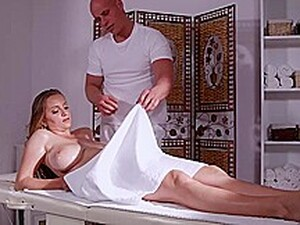 Busty Blonde Came For A Massage And Got A Cock Into Pussy
