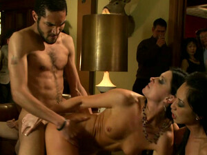 Wild Group Sex Orgy Featuring Slender Lustful Prostitutes