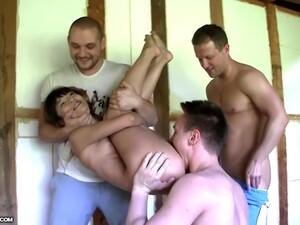 Katerina Has A Good Time With Three Cocks