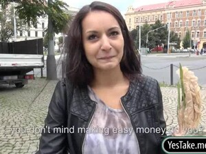 Dude Gets To Drill This Babe In Public For Money