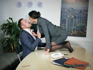 Busty Executive Mea Melone Blows Hung Client
