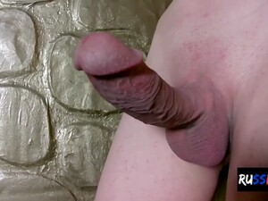 Russian Trans Chick Jerks Off Her Hard Cock