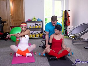 Rough Threesome Fucking In The Home Gym With Handsome Jade Presley
