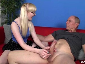 Teen In Pigtails Jerks Off Her Uncle In This Teen Tugs Video