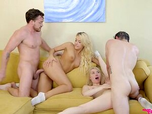 Mom And Dad Watch A Hardcore Foursome Unfold