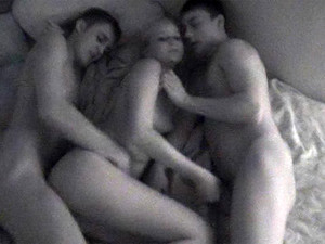 Amateur Teen Threesome With Cute Blonde