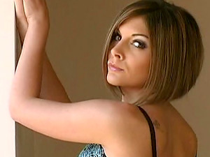 Short-haired NaomiK Poses In This Sexy Lingerie