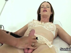 Adulterous British Milf Lady Sonia Flashes Her Huge Boobs
