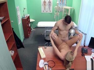 Muscular Young Guy Fucks Blonde Nurse
