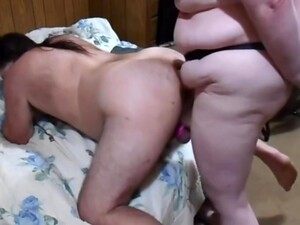 Huge Strapon Dildo Drilling Submissive Guy039s Ass