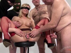 SpermaStudio SiteRip - Gangbang Eva Blindfold White Stu