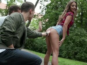Leggy Hungarian Babe Amirah Adara Picks Up Two Dudes For Dirty DP Sex