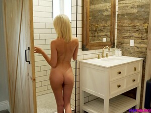 Cute Teen Turns Into Slut In The Shower And She Loves Her Some Post Shower Sex