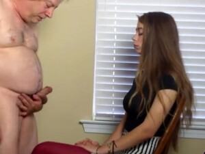 Old Guy With A Small Dick Gets A Handjob By Adorable Samantha Hope