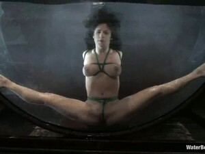 Flexible Mia Bangg Get Bonded And Hosed In Bondage Video