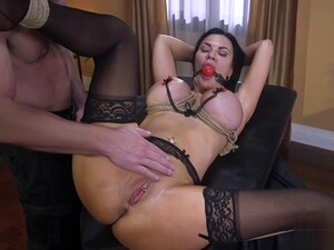 Biker Ties Up And Whips Busty Milf