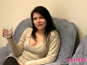 Naughty Czech Girl Zuzinka Palying With  Condom