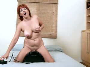Riding Sybian Lusty Whore Calliste Gonna Reach Multiple Orgasm