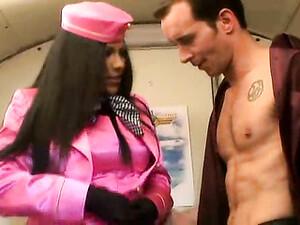 Stewardess In Satin Sucking On Cock