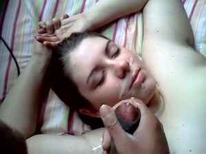 I Jerked Off On Busty BBW Hoe And Cum Tight On Her Face