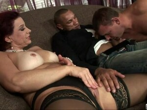 Two Bisexual Guys And A Woman Having Threesome Sex