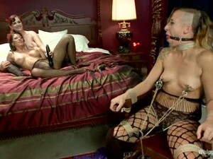 Humiliation And Strapon Fucking For Submissive Girl By Two Dominatrices
