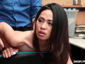 Naughty Asian Girl Gets Punished In The Stores Basement