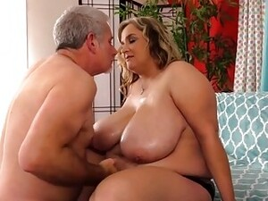 Jeffs Models  In A BBWs Mouth And Between Her Huge Boobs Compilation