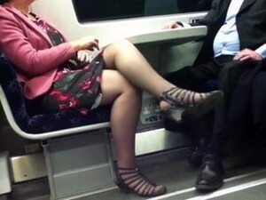 Mature With Sexy Legs In The Train