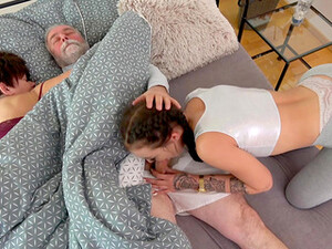 Aroused Teenager Tries The Big Dick Of Her Step Dad