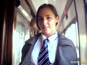 Sexy Chick Amirah Adara In Miniskirt Fucked In Her Butt On The Train