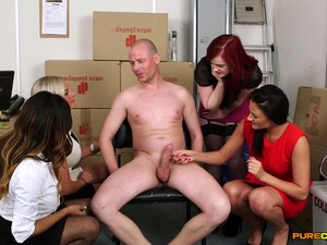 Flaming Women Share Their CFNM Extravaganza On Cam
