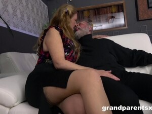 Senior Couple Has A Ton Of Fun In The Presence Of Two Sexy Strippers