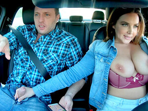 Busty Woman Learns How To Drive And Fuck At The Same Time