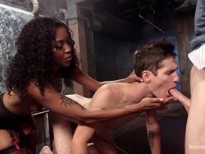 Bisexual Threesome Sex With Amazing Ebony Princess Lotus Lain