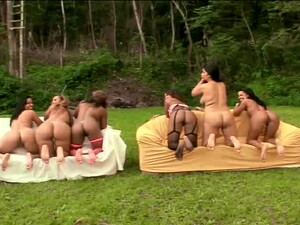 Cantik jelita,Gadis Brasil,Seks grup,Warna kulit berbeda,Pesta seks