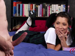 Adorable Rina Ellis Watches Her Boyfriend Wank Off In Front Of Her