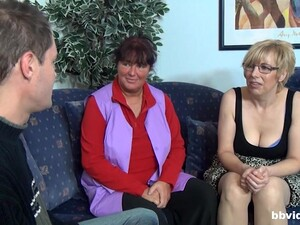 Chubby Mature And Her Younger Boyfriend Prefer Group Sex Today