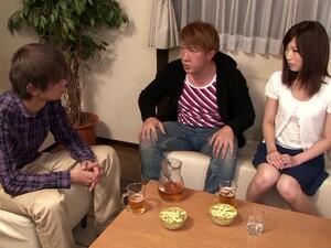 Pretty Japanese Girl Kaori Aikawa Favours A Guy With A Blowjob