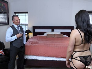 Lea Lexis Cuckolding Her Husband In Her Sexiest Black Stockings