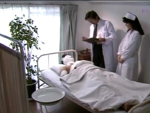 Nice Japanese Nurse Gives Him Head And Jerks Him Off