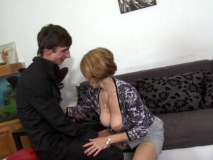 Hot Mature Redhead With A Great Pair Of Big Boobs Gets Laid