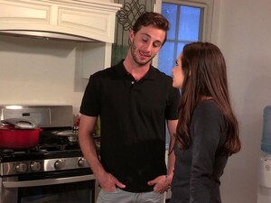Handsome Man Is Happy To Seduce Cute Babe Casey Calvert